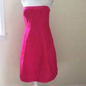 Ann Taylor Pink Silk Strapless Dress NWT